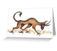 Heraldic Fantasy Creature Greeting Card