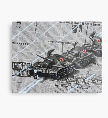 Tank Man of Tiananmen Metal Print