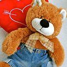 Teddy bear love by freshairbaloon