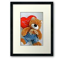 Teddy bear love Framed Print