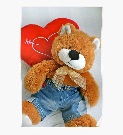 Teddy bear love Poster