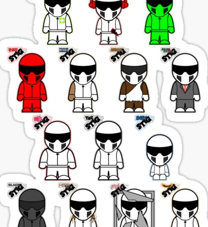 The Stig & His Cousins Sticker