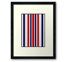 JAGGED SPIKE PATTERN Framed Print