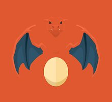 Charizard Pokemon Minimal by millimade