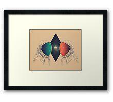 Space Between Framed Print