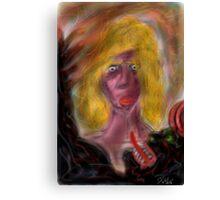 The demon's mistress Canvas Print