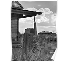 Neighborly View-- Ruined Ranch House, Cuervo, New Mexico Poster