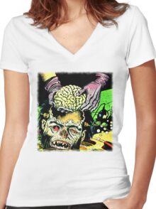 Brain Surgery Women's Fitted V-Neck T-Shirt