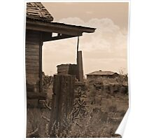Neighborly View -- Ruined Ranch House, Cuervo, New Mexico Poster
