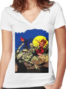 Party at Ground Zero Women's Fitted V-Neck T-Shirt