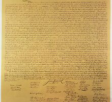 Declaration of Independence by Bridgeman Art Library