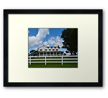 Farmhouse in the Country Framed Print