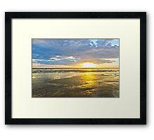 Crosby Beach Irish Sea sunset Framed Print