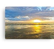 Crosby Beach Irish Sea sunset Canvas Print