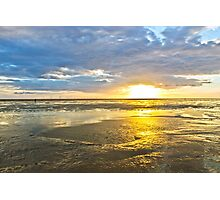 Crosby Beach Irish Sea sunset Photographic Print