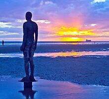Iron Man Sunset At Crosby Beach by Paul Madden