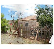 Good Fences --Ruined House, Cuervo, New Mexico Poster