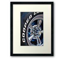 Racer Wheel Framed Print