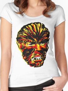 WOLF HEAD Women's Fitted Scoop T-Shirt