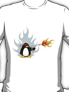 Flamethrower Penguin T-Shirt
