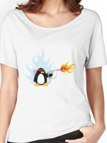 Flamethrower Penguin Women's Relaxed Fit T-Shirt