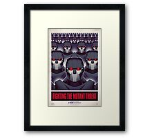 FIGHTING THE MUTANT THREAT!  Framed Print