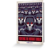 FIGHTING THE MUTANT THREAT!  Greeting Card
