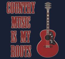 Country Music Is My Roots One Piece - Long Sleeve
