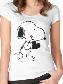 Snoopy's heart  Women's Fitted Scoop T-Shirt
