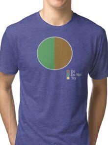 Pie Chart of Jedi Wisdom Tri-blend T-Shirt