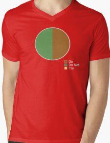 Pie Chart of Jedi Wisdom Mens V-Neck T-Shirt