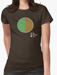 Pie Chart of Jedi Wisdom Womens Fitted T-Shirt