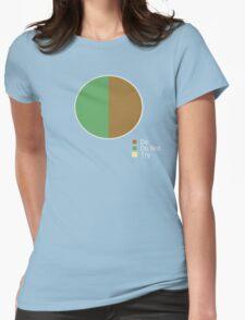 Pie Chart of Jedi Wisdom Womens Fitted T-Shirt