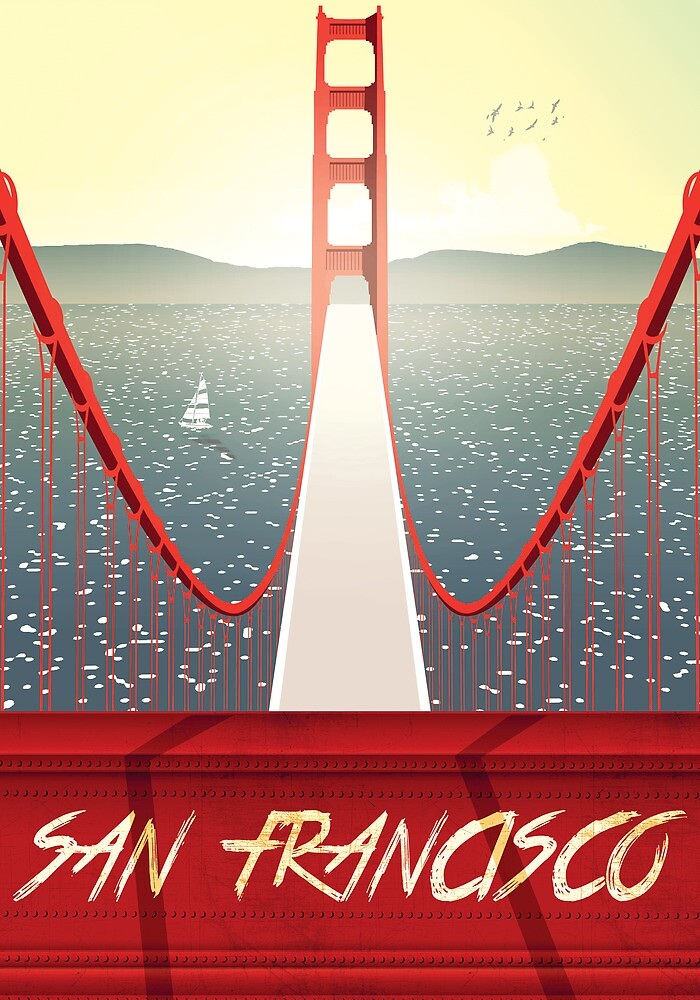San Francisco Golden Gate bridge poster by I am  Loudness
