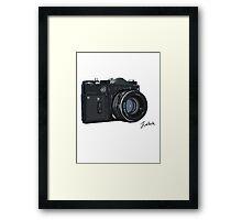 Classic Russian camera Framed Print