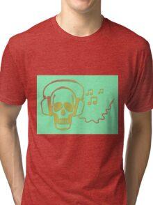 Rockskull green Tri-blend T-Shirt