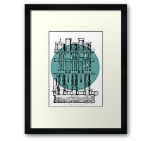 Machinery diagram Framed Print