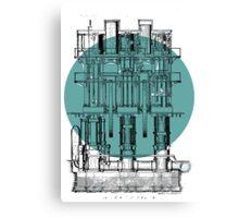Machinery diagram Canvas Print