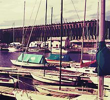 Sailboats In Dock by Phil Perkins