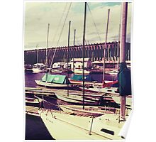 Sailboats In Dock Poster