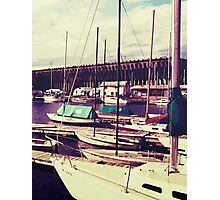 Sailboats In Dock Photographic Print