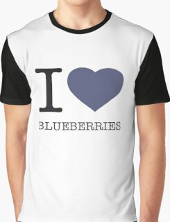 I ♥ BLUEBERRIES Graphic T-Shirt
