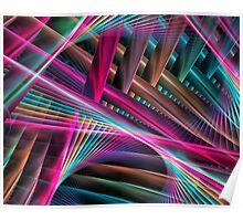 Laser Beams Poster