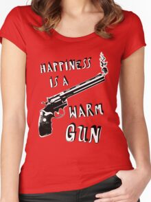 Happiness is a Warm Gun Women's Fitted Scoop T-Shirt