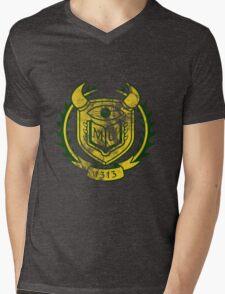 OK Themed Distressed Logo Mens V-Neck T-Shirt
