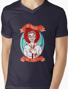 In Kaiju We Trust Mens V-Neck T-Shirt