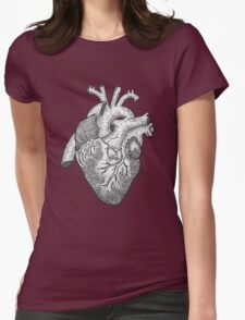 Anatomical Heart Ink Illustration Womens Fitted T-Shirt