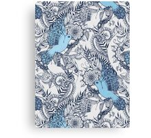 Flight of Fancy - navy, blue, grey Canvas Print