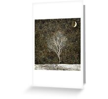 Golden Moonlight Greeting Card