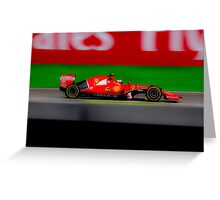 Ferrari Formula 1 Greeting Card
